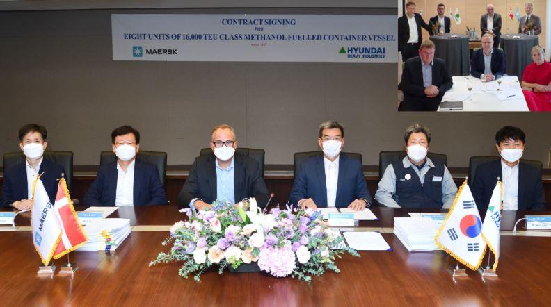KSOE, 메탄올 추진 컨선 8척 수주